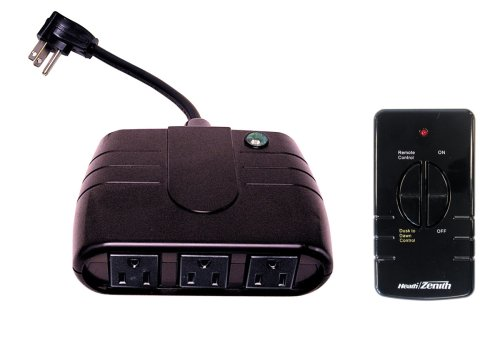- Heath Zenith RH-6022-BK-A Outdoor Wireless Kit with Multi-Socket Outlet and Remote, Black