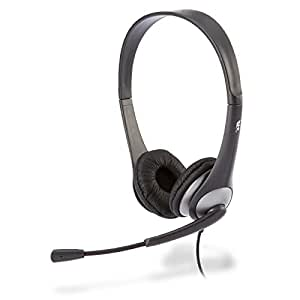Cyber Acoustics Stereo Headset, headphone with microphone, great for K12 School Classroom and Education (AC-201)