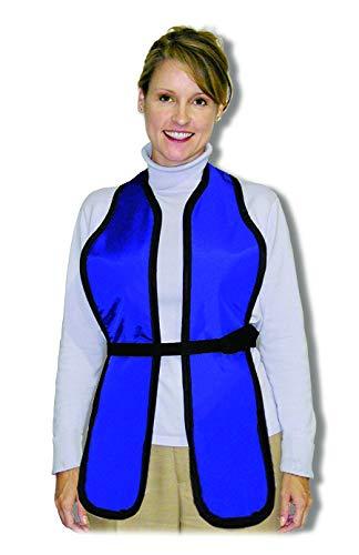 Long Scolio Breast Shields, Regular Lead, X-ray Apron, 0.5mm Pb Lead Equivalency, Adult, Royal Blue