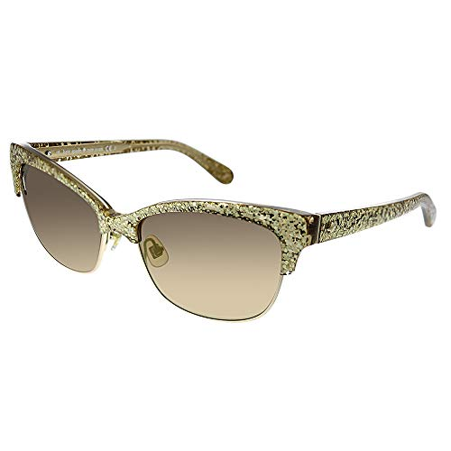 Kate Spade Women's Shira Cateye, Gold Glitter, 55 -