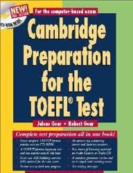 Cambridge Preparation for the TOEFL® Test Book with CD-ROM (Cambridge Preparation for the TOEFL (W/CD ROM)) 3th (third) edition Text Only