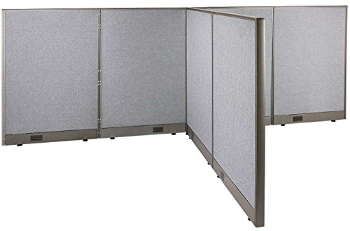 GOF T-Shaped Freestanding Partition 72d x 120w x 48h / Office, Room Divider (72d x 120w x 48h) by GOF