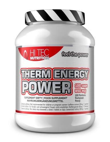 Hi Tec Nutrition - Therm Energy Power - 100 Kapseln - Koffein + Grüntee + Taurin