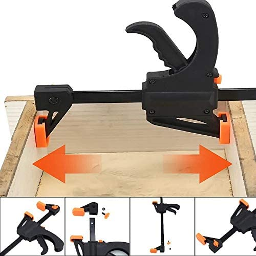 MJYT Heavy Duty F Clamp for Woodworking Quick-Grip Bar Clamp One-Handed Mini