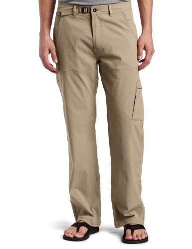 prAna Men's Stretch Zion 30'' Inseam Pants, Dark Khaki, Size 32 by prAna
