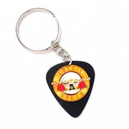 Guns N Roses Logo Púa De Guitarra Llavero Anillo coche ...