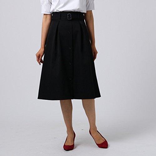 アンタイトル(UNTITLED) 【洗える】タックトレンチスカート B07FMKMSV3 01(S)|ブラック(019) ブラック(019) 01(S)