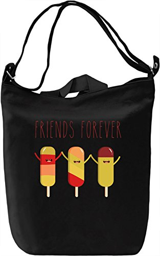 Friends Forever Borsa Giornaliera Canvas Canvas Day Bag| 100% Premium Cotton Canvas| DTG Printing|