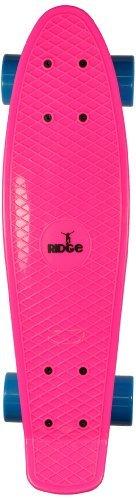 Ridge Skateboards 27 Inch Big Brother Retro Cruiser Skateboard - UK - Nickel Pink Board