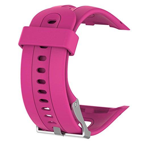 (YRD TECH Garmin Forerunner, Replacement Wristband Watch band Wrist strap Silicagel Soft Band Strap For Garmin Forerunner 10 Watch,Black,Blue,Green,Hot Pink,Mint Green,Orange,Purple ,Red (Hot Pink))