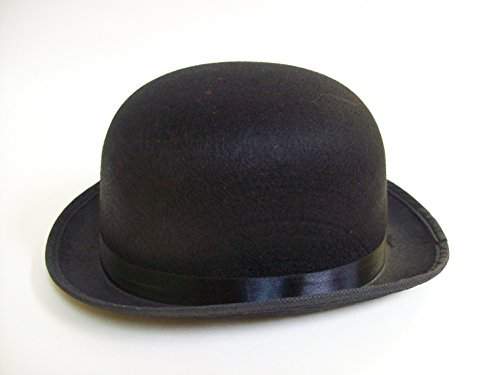 Deluxe Derby Adult Hat (Jacobson Hat Company Black Deluxe Felt Derby Roaring 20'S Bowler Hat Adult Costume Accessory)