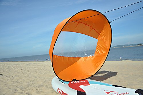 AUNAZZ/Downwind Wind Sail Kit 42 inches Kayak Canoe Accessories, Easy Setup & Deploys Quickly, Compact & Portable Orange