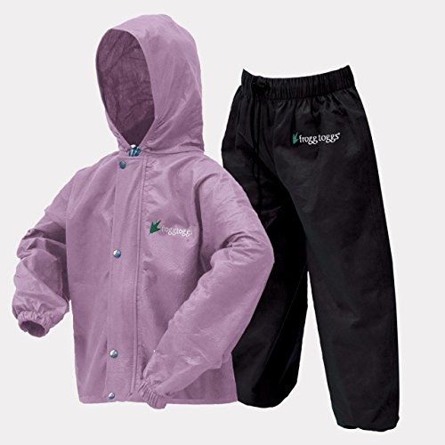 Frogg Toggs Polly Woggs Youth Rain Suit, Medium, Violet (Kids Rain Gear compare prices)