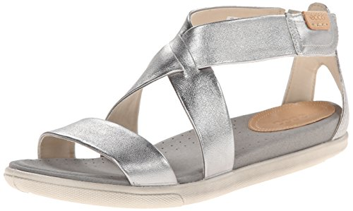 ECCO Women's Damara SP Dress Sandal,Silver,40 EU/9-9.5 M US