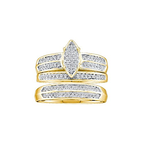 Diamond Set Cluster Ring - 8