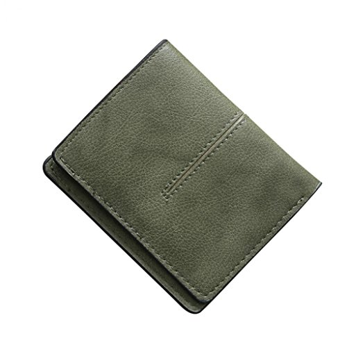 Black Thin Pink Card Holder Leather Green Hearsbeauty Credit Blocking Faux Color Pocket Wallet Light Retro Solid 40xUH6n