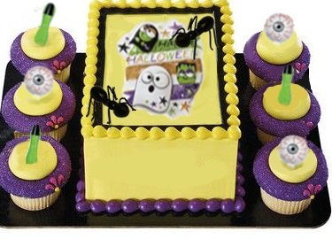 Halloween Food Party Cake Decoration Ghost And Zombie Eyeball Finger Toppers Ants Set (Finger Food For Halloween Party)