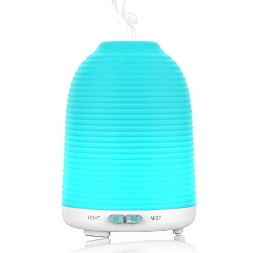 Aptoyu Aromatherapy Essential Oil Diffuser Portable Cool Mist Humidifier with Color LED Lights Changing and Waterless Auto Shutoff for Home Office Bedroom Room Baby 120mL