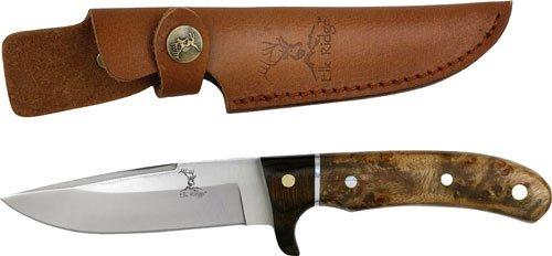 ER-065 Elk Ridge Fixed Blade Knife - q92a35650 Burl Wood Handle