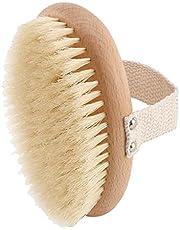 Runtodo Exfoliating Brush with Natural Boar Bristles,Dry Brushing Body Brush, Shower Brush for Remove Dead Skin, Slows Aging