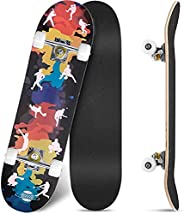 Skateboards Pro 31 inches Complete Skateboards for Teens, Beginners, Girls,Boys,Kids,Adults