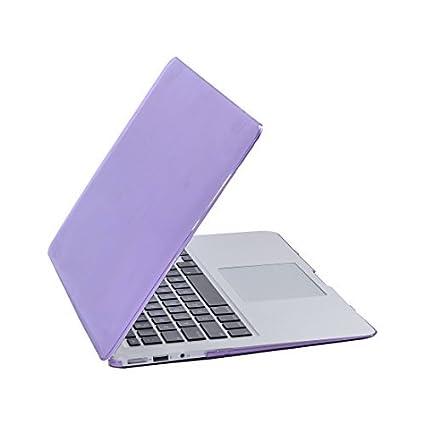 eDealMax plástico Brillante Duro cristalino de la cubierta protectora del caso púrpura Para Apple MacBook Air