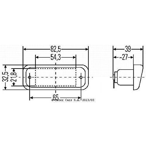 Hella 2KA 005 049-017 Feu /éclaireur de plaque