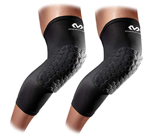 Mcdavid Hexpad Knee Pad - Knee Compression Sleeves: McDavid Hex Knee Pads Compression Leg Sleeve for Basketball, Volleyball, Weightlifting, and More - Pair of Sleeves