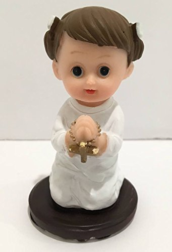 First Communion Baptism Praying Girl Favor Figurine Decoration Keepsake Gift Idea Set of 12 ()