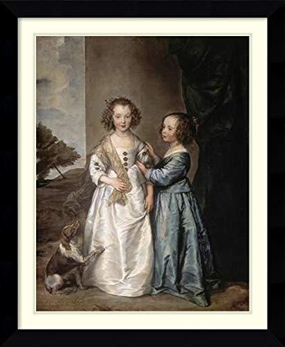 (Framed Wall Art Print | Home Wall Decor Art Prints | Philadelphia and Elisabeth Wharton by Anthony Van Dyck | Modern Decor )