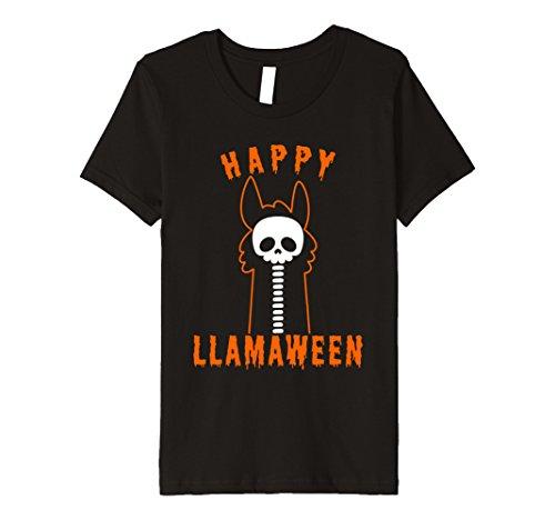 Llama Costume For Two (Kids Halloween Llama Funny Happy Llamaween T-Shirt 12 Black)