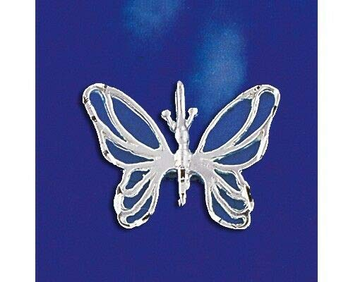 (Sterling Silver Filigree Butterfly Pendant Italian Charm Solid 925 Italy New Jewelry Making Supply Pendant Bracelet DIY Crafting by Wholesale Charms)