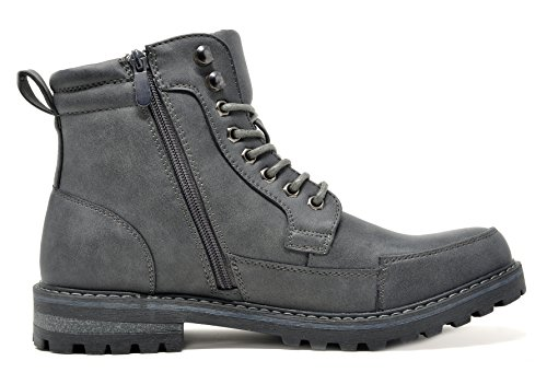 Bruno Marc Mens Military Motorcycle Combat Boots Engle-01-grey q0WZpt39o4