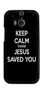 God Jesus Christ Cross Hard Case for HTC ONE M8 ( Sugar Skull )