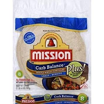 Misión 10 inch Carb Equilibrio Conjunto Trigo tortillas ...