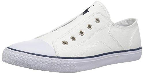 Ralph Sneakers Lauren Canvas - Polo Ralph Lauren Kids Baby Rowan Sneaker White Canvas Navy pop 6.5 Medium US Toddler