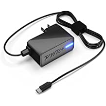 """[UL Listed] Pwr+ Extra Long 6.5 Ft AC Adapter 2.1A Rapid Charger for Fast Charging Hd, Hdx 6"""" 7"""" 8.9"""" 9.7"""" Tablet and Phone, Tab Power Supply Cord"""