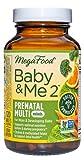 MegaFood Baby & Me 2 Prenatal Multi Minis - Postnatal and Prenatal Vitamins for Women with Biotin, Folic Acid, Choline, and More - Non-GMO - 120 Tablets