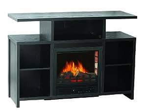 Sylvania Sbm907l 42fbk Electric Fireplace Heater 1250 Watt With Storage Space And 42 5 Inch