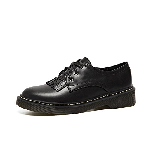 Performance Retro Shoes Classic Vintage T Tassel JULY Oxfords Perforated Women's Black Shoes xzqq8IpB