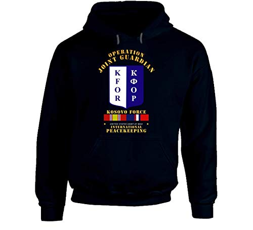 2XLARGE - Army - Us Army Peace Keeping - Operation Joint Guardian W Kosovo Svc Hoodie - Navy