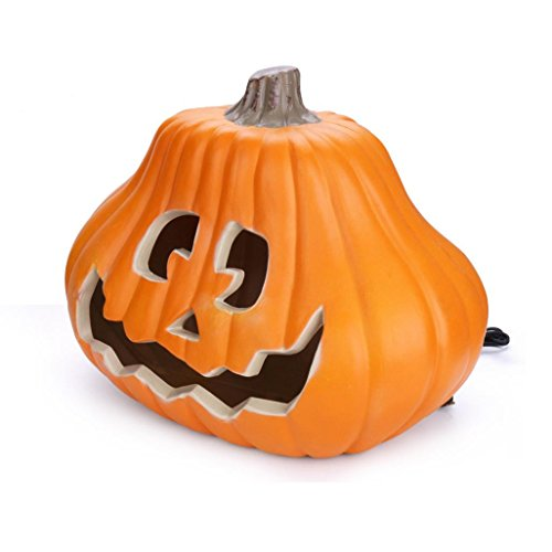 High Brightness Jack-o'-lanterns, Sayhi Unique Carved Halloween Pumpkin Light Trick or Treat Pumpkin Lamp Perfect for Decoration,Bar,Party Celebration,Shipping from USA (14 inches)