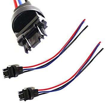 ijdmtoy (2) 3156 3157 male adapter wiring harness for car motorcycle headlight tail lamp turn signal lights retrofit  turn signal wiring harness #8