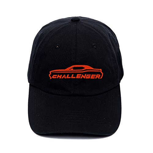 Adjustable Snapback Hats 2008-15 Dodge Challenger Red Embroidery Trucker ()