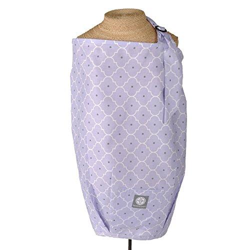 (Balboa Baby Dr. Sears Nursing Cover - Lavender Trellis )