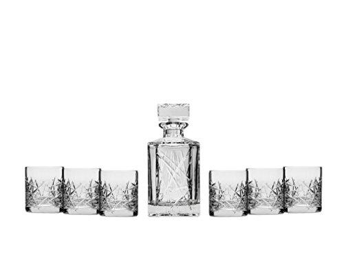 bohemia-crystal-whiskey-set-graffiti-clear-crystal-decanter-and-six-heavy-base-whisky-scotch-brandy-