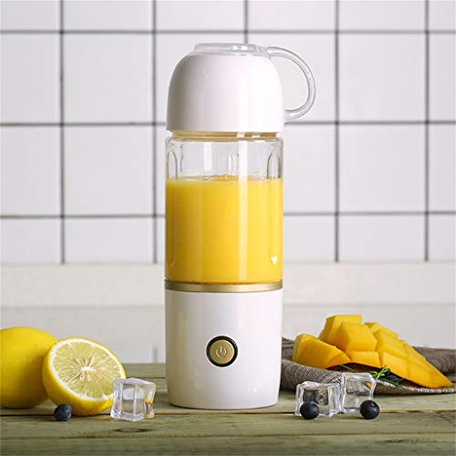 Nesee 400ml Portable Blender Smoothie Juicer USB Rechargeable Mini Personal Size for Travel Fruit Mixer Machine (White)