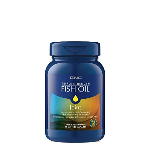 GNC Triple Strength Fish Oil Plus Joint, 60 Softgels, for Join, Skin, Eye, and Heart ()