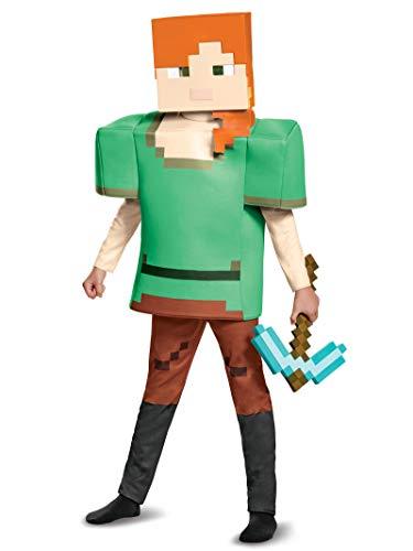 Alex Deluxe Minecraft Costume, Multicolor, Medium