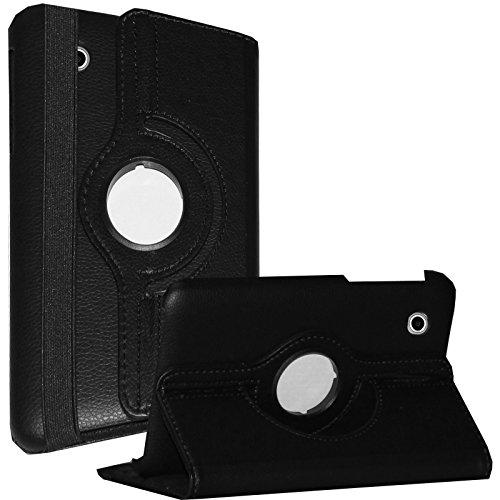 JYtrend Case for Galaxy Tab 2 7.0, Rotating Stand Cover for Samsung Galaxy Tab 2 7-inch GT-P3100 GT-P3110 GT-P3113 GT-P3113TSYXAR GT-P3110ZWABTU GT-P3110ZWADBT GT-P3100ZWABTU GT-P3100GRADBT (Black) (Samsung Tablet Case Model Gtp3113)